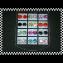 Blister de Aros strass color grandes x12