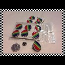 Pins de Zamac con dome Orgullo Gay